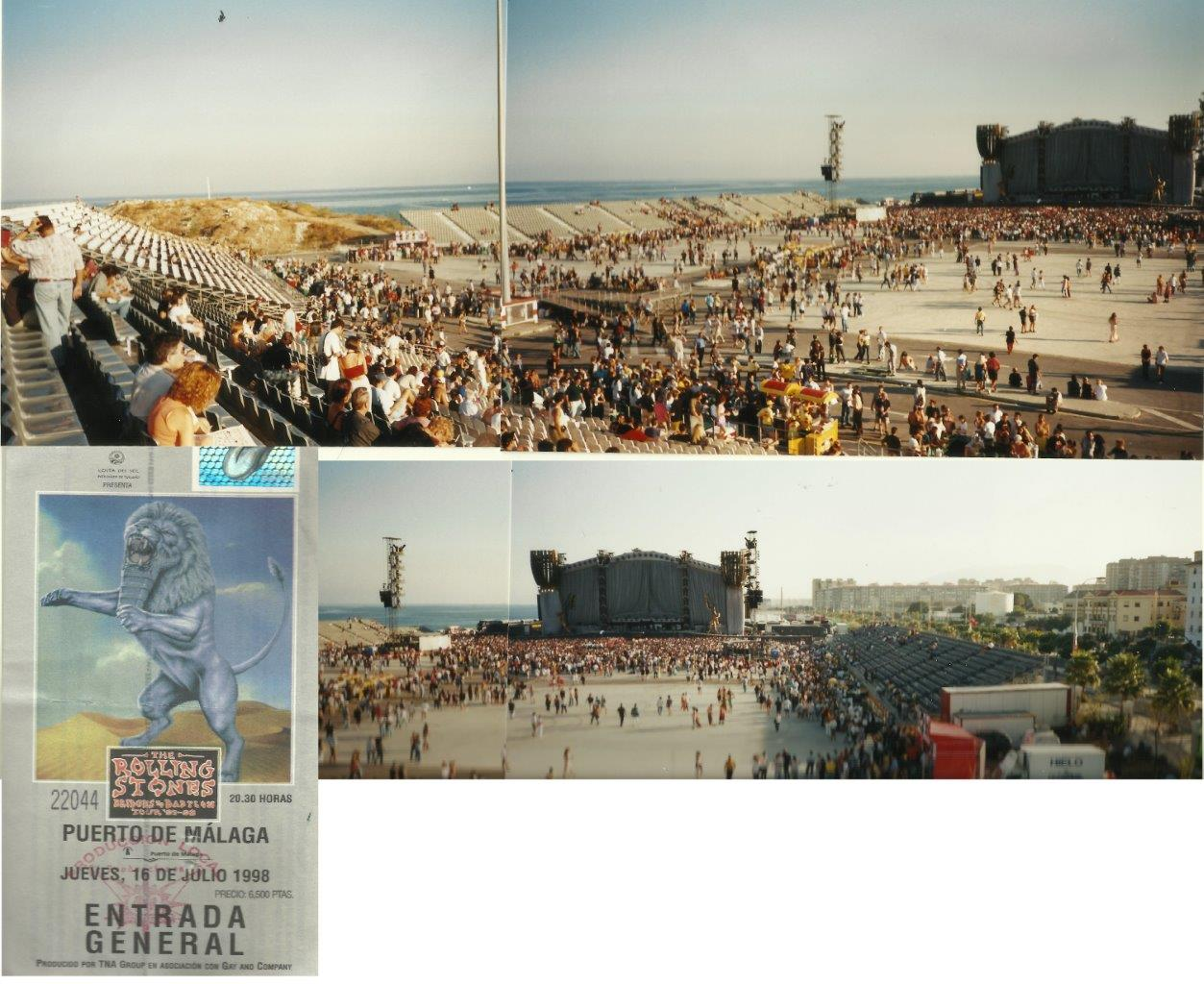 The Rolling Stones live in Malaga Spain 1998